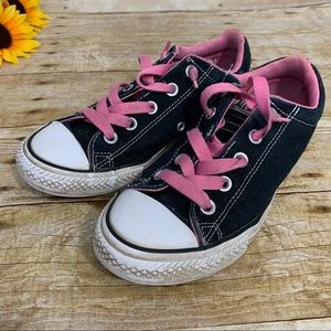 Girls converse sneakers are black. Juniors Size 3